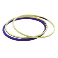 Zento Purple/gold tone bangle trio (Code 2010)